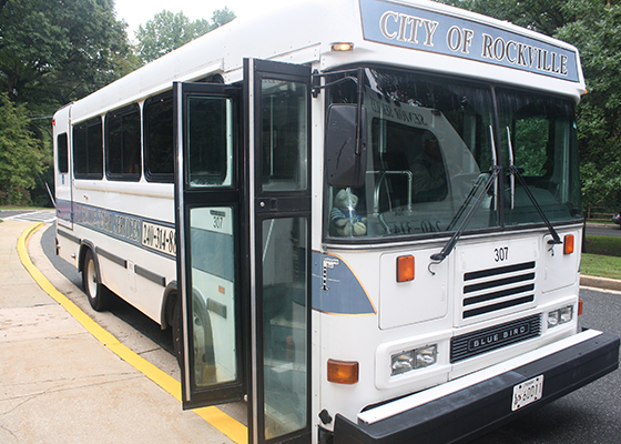 Bus at the Senior Center