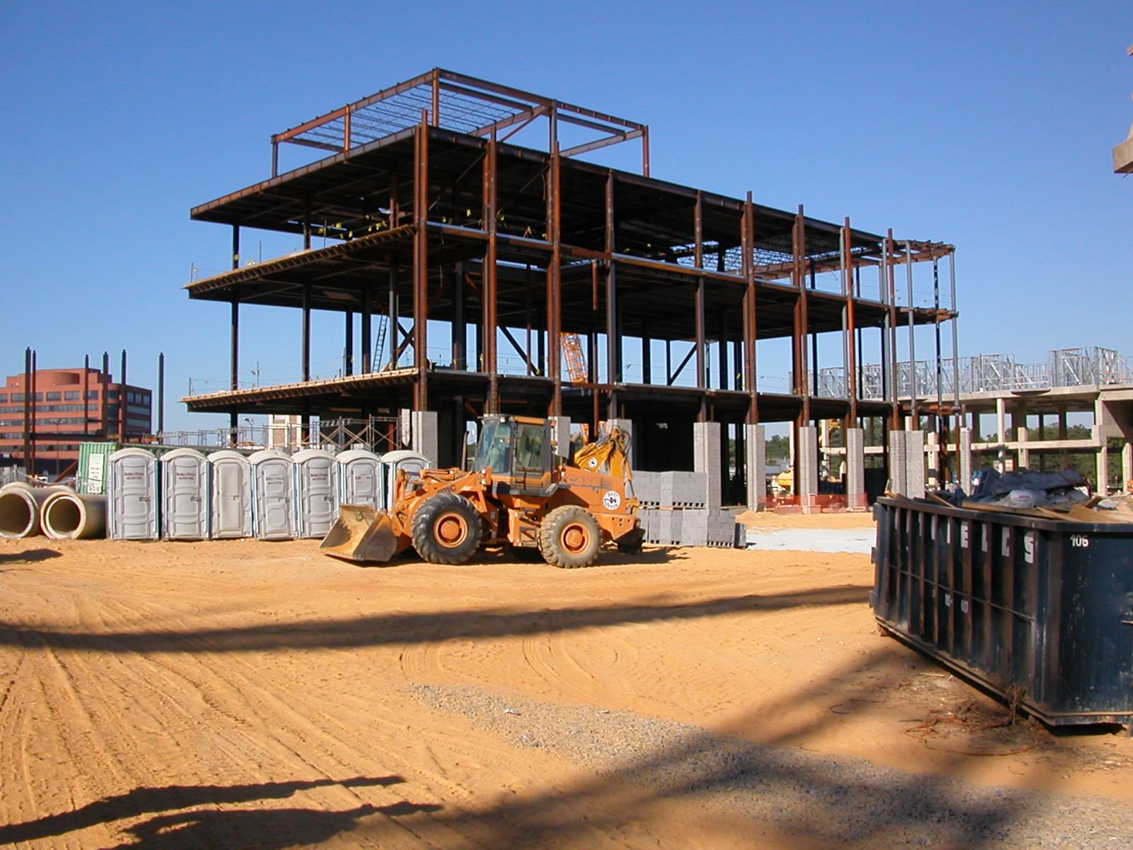 Photo of a building being constructed