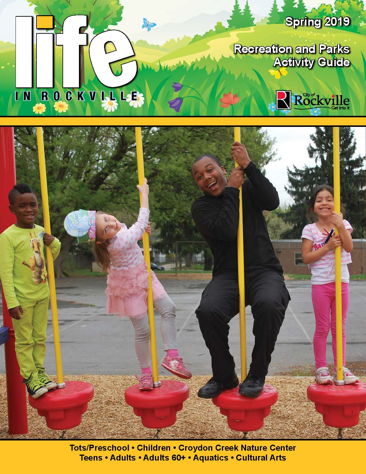 Spring 2019 Life in Rockville Recreation guide cover
